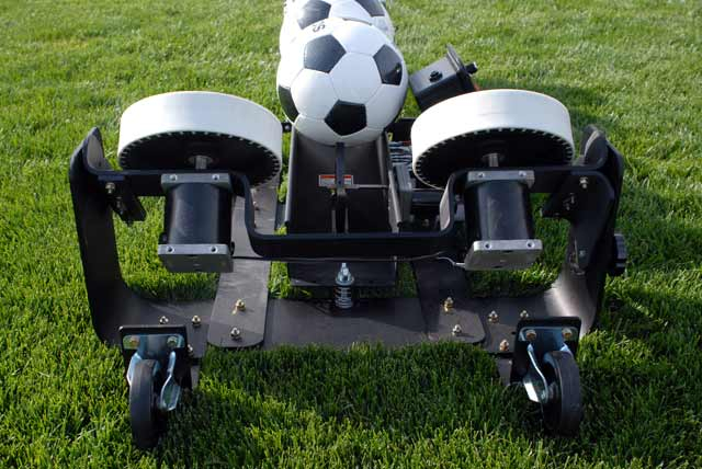 pro trainer soccer ball machine front view