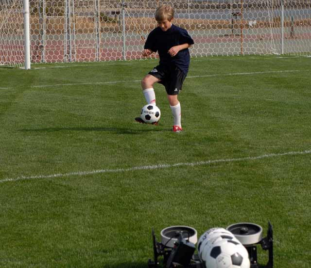 pro trainer first touch soccer training