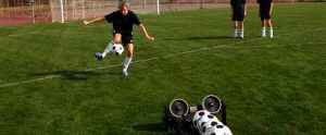 Soccer training with pro trainer